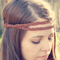 The Boho Band Double Strand Bohemian Braid by adelitakelly on Etsy
