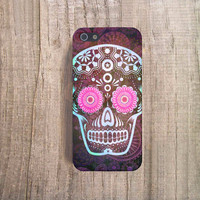 SUGAR SKULL iPhone Case, Halloween iPhone Case, Skull iPhone 4 Case, Halloween iPhone Cover, Sugar Skull iPhone Case, Skull iPhone5s Case