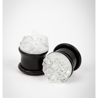 Clear Crystal Plug Set