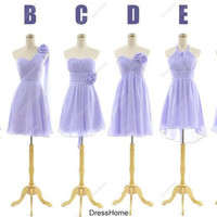 Custom Bridesmaid Dress - Lilac bridesmaid Dress / Short Bridesmaid Dress / Cheap Bridesmaid Dress Plus Size / Lilac Prom Evening Dress