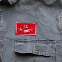Best Made Company — Be Optimistic Felt Badge