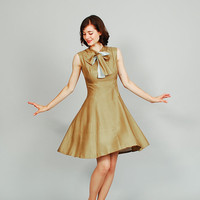 60s Dress - Silk 1960s Dress - Picholine