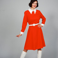 60s MOD Dress - 1960s Dress - Scooter Girl