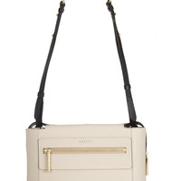 Lanvin | Two-tone textured-leather shoulder bag | NET-A-PORTER.COM