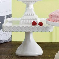 Rosanna, Inc Decor Bon Bon White Footed Square Cake Stand