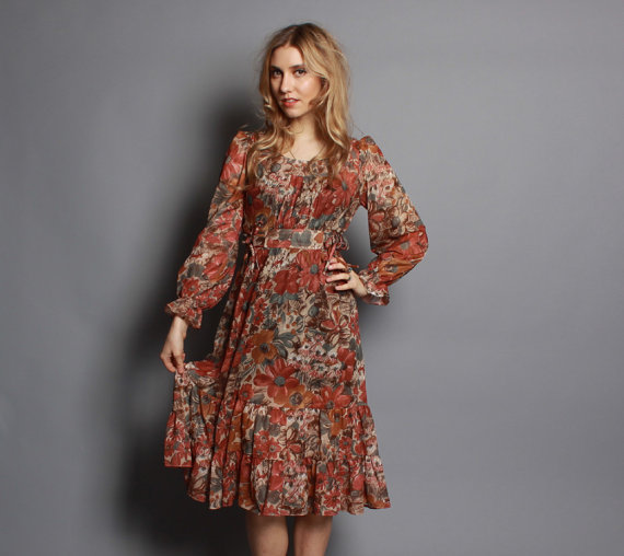 Your vintage peasant dress remarkable, very