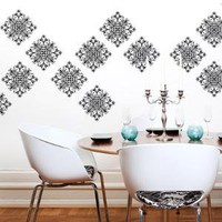 Scroll Damask Wall Pattern Decal 