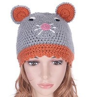Grey Cute as a Mouse Children's Hat from Hats by Camilla