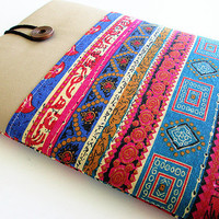 Macbook 11 case, Mac 11 case, Mac air case,  Microsoft Surface case, Google Nexus 10- Tribal print.