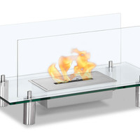 Baza Free Standing Floor Indoor Outdoor Ethanol Fireplace
