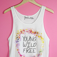 Daisy Crown Young Wild Free Crop Tank Top | Yotta Kilo