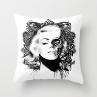 Marilyn undead.  Throw Pillow by Kristy Patterson Design