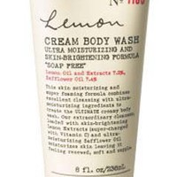 Bath  Body Works C.O. Bigelow No. 1160 Lemon Cream Body Wash Ultra Moisturizing and Skin Brightening Formula Soap Free 8 fl oz (236 ml)