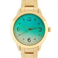 River Island | River Island Gold And Green Link Watch at ASOS