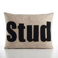 STUD 14x18inch recycled felt applique pillow  by alexandraferguson