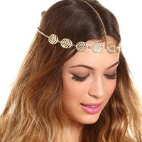 FILIGREE LEAVES GODDESS HEADWRAP
