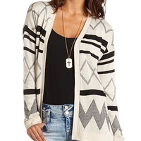 Open-Front Grandfather Cardigan: Charlotte Russe