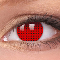 Red Screen Contact Lenses, Red Mesh Contacts | EyesBright.com