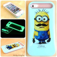 Custom Design Iphone 5 Case @ Minions Despicable Me 2 Mustache Iphone 5 Cover
