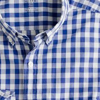 Secret Wash lightweight button-down shirt in Van Buren gingham - J.Crew