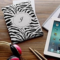 Black Zebra Tablet Case