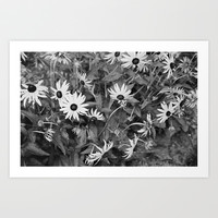 b&w flower power  Art Print by revengeofthenerds