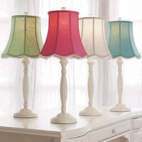Classic Iron Lamp Base + Scallop Shade | PBteen