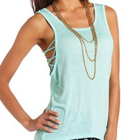 Lattice Side Hi-Low Tunic: Charlotte Russe