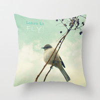 Learn to Fly! Throw Pillow by RDelean