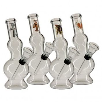 Voodoo Design Double Bubble Glass Mini Bong - Colored and Color Changing Glass - Smoking Pipes - Grasscity.com
