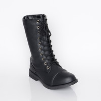 Zip It Combat Boot - Shoes