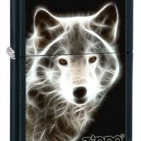 Zippo Black Matte White Wolf Lighter:Amazon:Sports & Outdoors