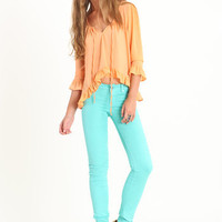 Spearmint Beanpole Skinny By Insight - $88.00 : ThreadSence.com, Your Spot For Indie Clothing & Indie Urban Culture