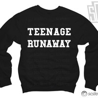 Teenage Runaway Sweatshirt x Jumper WOMENS - One Direction Harry Styles 116