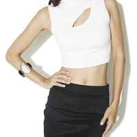 Mock Neck Crop Top | Shop Arden B. Club at Arden B