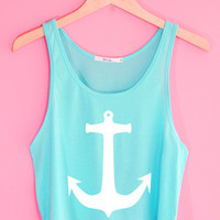 Cute Anchor Crop Tank Top | Yotta Kilo