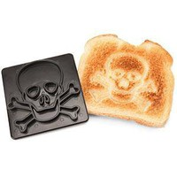 Pirates On Toast Jolly Roger Toast Stamp