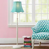 Classic Iron Floor Lamp + Scallop Shade | PBteen