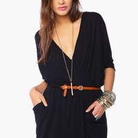 Draped Across Dress - Black in Collections Paint It Black at Nasty Gal
