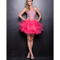 2013 Prom Dresses - Watermelon Tulle Short Prom Dress - Unique Vintage - Prom dresses, retro dresses, retro swimsuits.