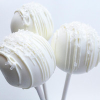 Wedding Day Cake Pops - Cake Pops - White Chocolate Cake Pops