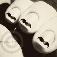Handlebar Staches 40 pieces Choose any color by mycrazyworlds