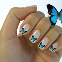 Beautiful Mod Butterfly Nail Art Waterslide Water by the4thmuse
