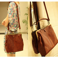 Hollow Out BrownTote Shoulder Bag & Handbag