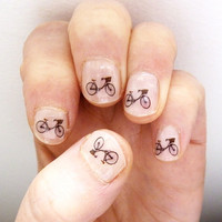 bicycle nail transfers by katebroughton on Etsy