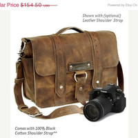 Summer Sale 14 Distressed Tan Newport Voyager by CopperRiverBags