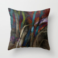 Funky Woods © Throw Pillow by JUSTART