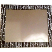 Black and white Mirror, Large decorative Mirror, Shabby Chic Mirror