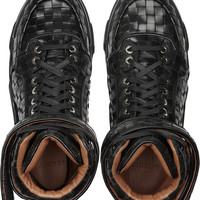 Givenchy | Tyson high-top leather sneakers | NET-A-PORTER.COM