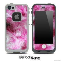Neon Pink Feather Explosion Skin for the iPhone 5 or 4/4s LifeProof Case